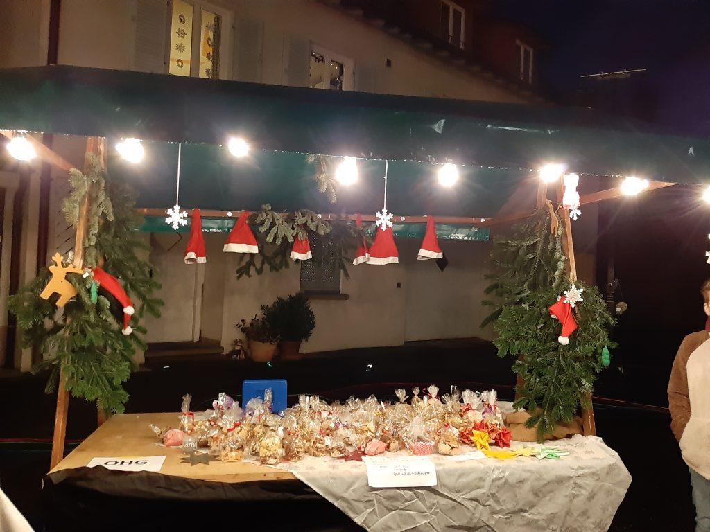 SMV-Stand beim Nellinger Weihnachtsmarkt